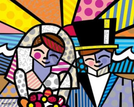 Romero Britto Honeymoon at Sea