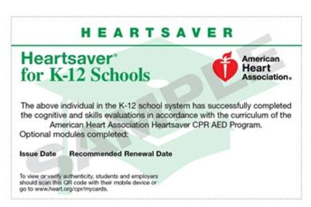 CPR Safety Services & AED ProStore - Teachers, American Heart