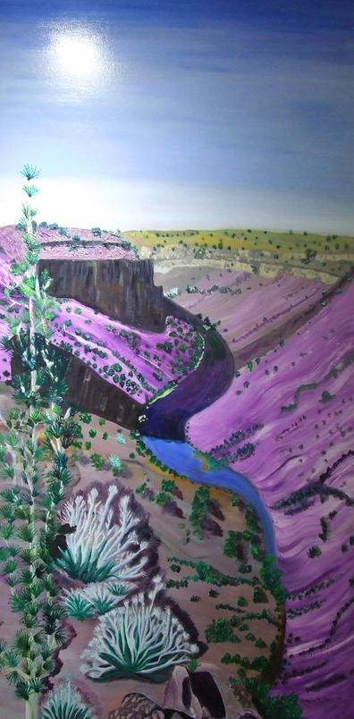 The Natural Accents Gallery of Taos, exhibiting the works of Katherine M. Soskin, Mixed Media Artist