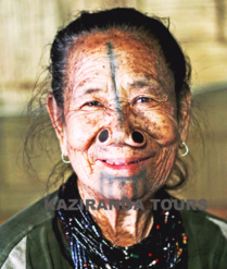 Apatani Lady, Tribal Tour in Northeast India