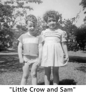 Little Crow and Sam as young children in the 1960's