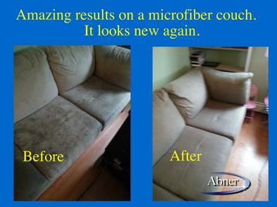 Photo of microfiber sofa/couch upholstery cleaning in Halifax