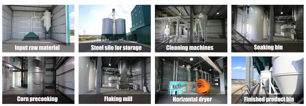 flow sheet of precooked corn flour mill machine