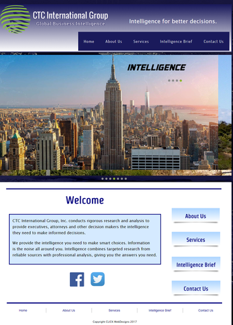 CTC International Group website designed by CLICK WebDesigns