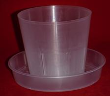 clear plastic orchid saucers small 5 inch heavy duty plant sturdy nursery pots