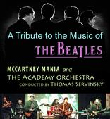 Program for A Tribute to the Music of The Beatles, McCartney Mania and the Academy Orchestra