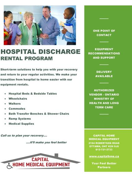hospital discharge rental program rent hospital bed