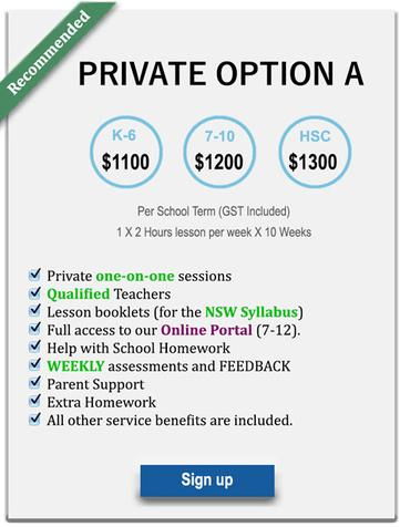 private one-to-one hsc tutoring prices
