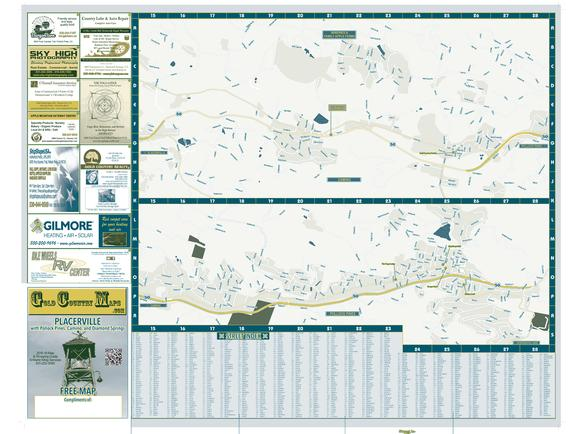 Camino and Pollock Pines Map