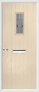 Cottage rectangle composite door lignum glass