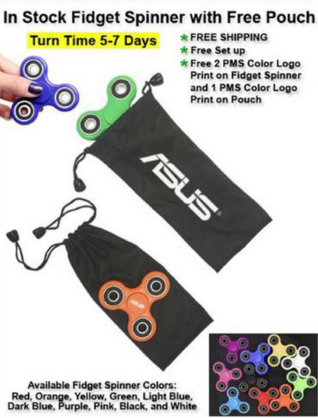 Fidget Spinner with Free Pouch