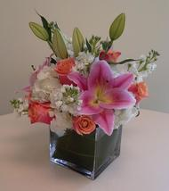 NB-6CM Lilies, Hydrangea, Stock, and Roses