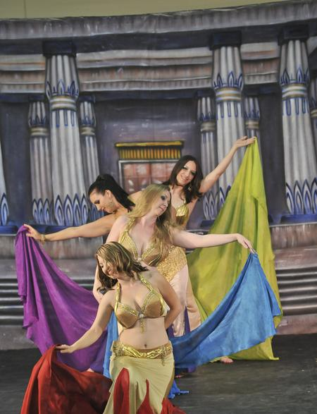 student belly dance troupe