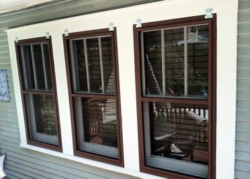 Finished product of our wood window repair services in Tampa, FL