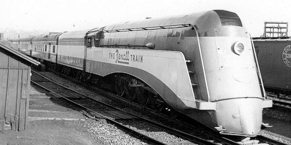 The styling of the Rexall Train's streamlined locomotive was almost identical to the NYC's Commodore Vanderbilt.