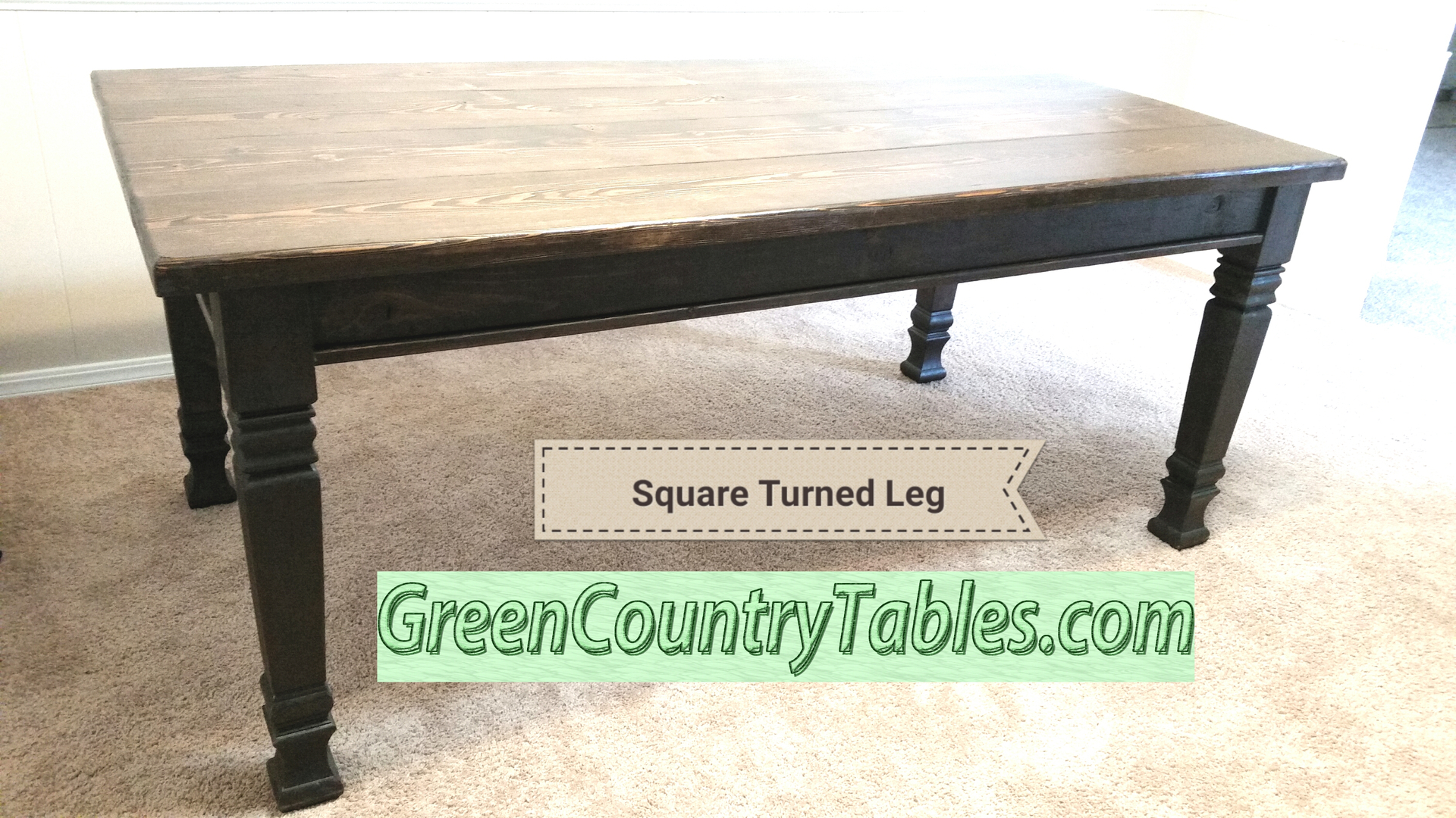Lakeside Cottage and Other Turned Leg Farmhouse Tables