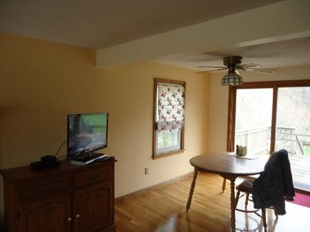 Newly painted dining room, Attleboro, MA.