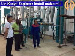 installation 30 metric tons maize flour mill in Kenya