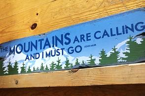 rustic wood signs - mountain lifestyle