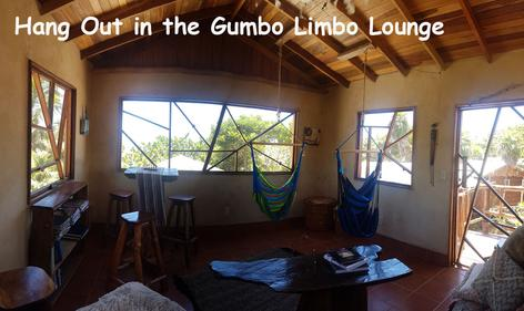 Hanging hammock chairs and other furnishings make up the Gumbo Limbo Lounge where you can read a book, play a game or just enjoy the 360 degree views from this elevated space.