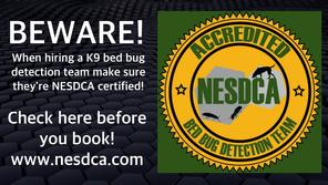 NESDCA Bed Bug Inspection Dogs