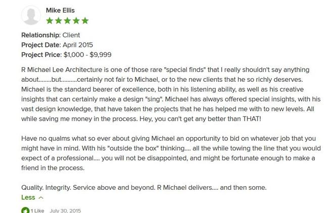 Mike Ellis Houzz 5 Star Review