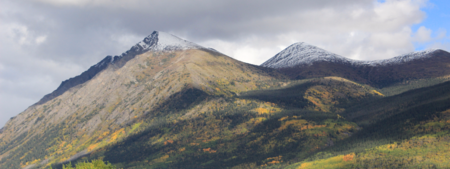 Mountains near Carcross, Yukon in the fall. Photo by Kate McGill