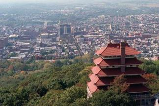 Reading, Pa., Pagoda view of the City