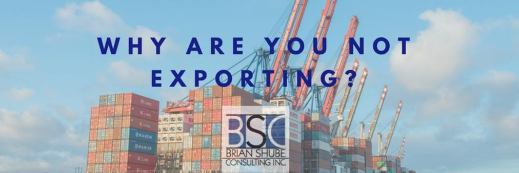 Brian Shube Consulting | International Trade, Why are you not exporting? , Blog post, Import, Export Specialists