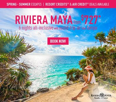 Riviera Maya all inclusive promo from $727