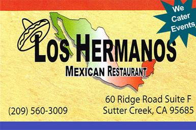 Los Hermanos Mexican Restaurant, Burritos, Enchiladas, Chili Rellano, Chili Verde, Carnitas, Fajitas