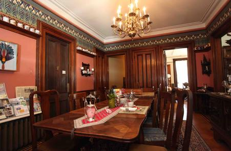 The Dining Room at The Grand Dutchess Bed & Breakfast Awaits Your Arrival for Breakfast