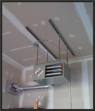 Image Result For Hanging Garage Heater Installation