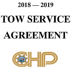 2018-2019 Tow Service Agreement