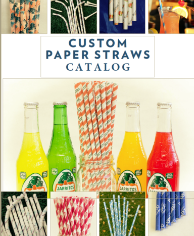Paper straws custom printed