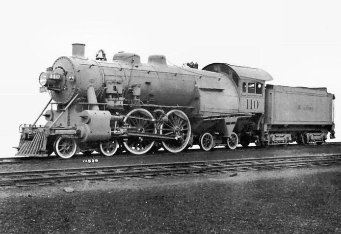 Reading 4-4-4 Locomotive No. 110.