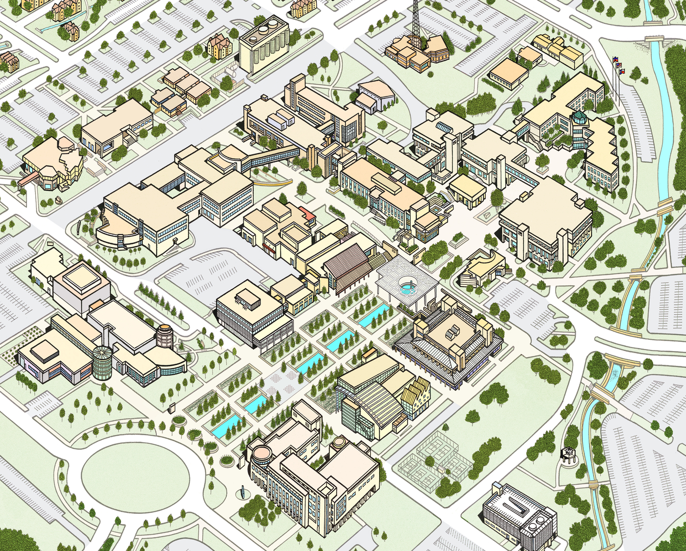 Baker College Flint Campus Map.Campus Maps