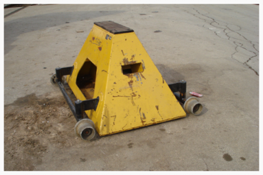 Rail Car Support Stand HN-7522-1W With Wheels Railway Maintenance Equipment Railway Safety Equipment Rail Car Maintenance Equipment Rail Car Safety Equipment