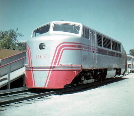 American Car and Foundry's Talgo locomotive at the Chicago Railroad Fair.