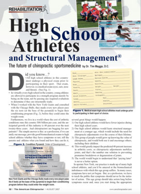 High School Athletes and Structural Management®