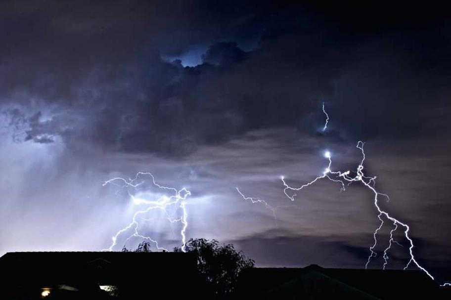 lightning storm photo copyrighted