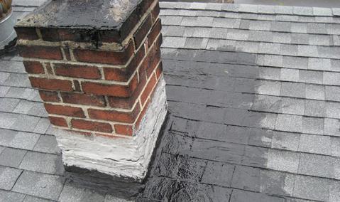 repaired roof leak