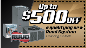 Save up to 500 dollars on any qualifying Ruud system