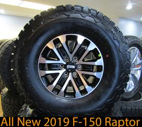 2019 Ford F-150 Raptor Wheels and tires with BFG KO2 tires takeoff