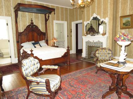 Mrs. Cruikshank's (Anne Louise) Chamber, a Bed and Breakfast room at Rockcliffe Mansion, Hannibal Missouri
