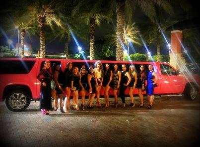 Bachelorette Party Limo service in Pink