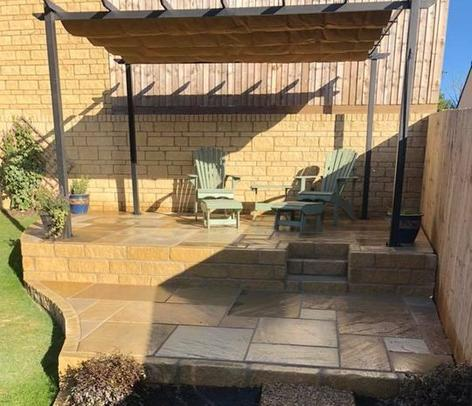 Patio work in Beckington
