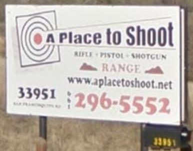 A Place To Shoot Sign