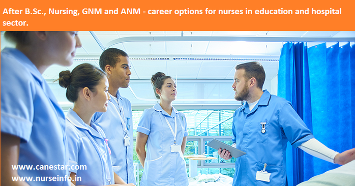 after bsc, gnm, anm nursing - career option