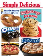 Otis Spunkmeyer Simply Delicious cookie dough fundraising brochure